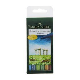 Pen brush capillary set Faber-Castell PITT Artist Pen Brush 6 colors natural from 167105