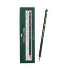 Карандаш художественный чёрнографитный Faber-Castel CASTELL® 9000 профессиональные 4B зелёный