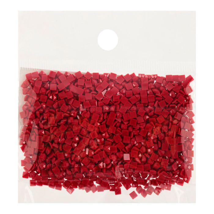 Стразы для алмазной вышивки, 10 гр, не клеевые, квадратные 2,5*2,5мм 815 Garnet Med DK