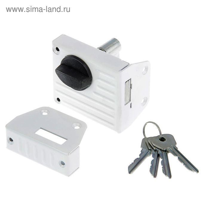 "Замок накладной Димитровград ""Зенит"" ЗН1-2, белый"