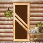 """Дверь со стеклом """"Диагональ"""" 180х70см"""