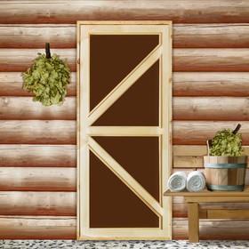 """Дверь для бани и сауны """"Бавария"""", 190х70см"""
