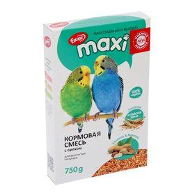 Корм «Ешка MAXI» для волнистых попугаев, с орехами, 750 г