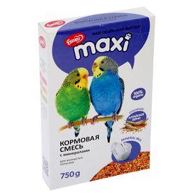 Корм «Ешка MAXI» для волнистых попугаев, с минералами, 750 г