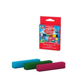 Пластилин 6 цветов, 90 г, ArtBerry, с Алоэ Вера, индивидуальная упаковка брусков, европодвес