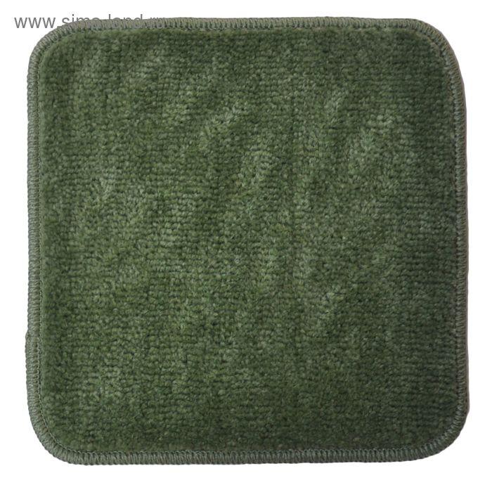 Коврик для ванной, EKOTREND, цвет зеленый 33х33 см