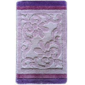 Коврик для ванной, Liza, цвет лиловый 80х50 см