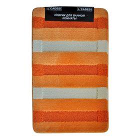 Набор ковриков для ванной 2шт Colorline, цвет oранжевый 80х50 см