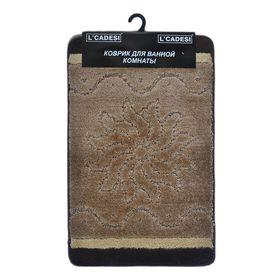 Набор ковриков для ванной 2шт Kibella, цвет коричневый 80х50 см