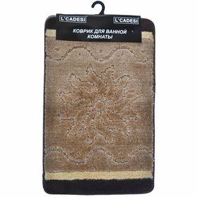 Набор ковриков для ванной 2шт Kibela, цвет коричневый 100х60 см