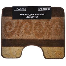Коврик для ванной, HURREM, цвет коричневый 60х50 см