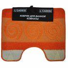 Коврик для ванной, HURREM, цвет оранжевый 60х50 см