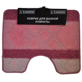 Коврик для ванной, HURREM, цвет розовый 60х50 см