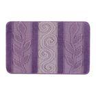 Коврик для ванной, HURREM, цвет лиловый 80х50 см