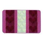 Набор ковриков для ванной 2 шт HURREM, цвет вишневый 80х50 см