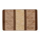 Набор ковриков для ванной 2 шт HURREM, цвет коричневый 80х50 см