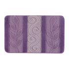 Набор ковриков для ванной 2 шт HURREM, цвет лиловый 80х50 см