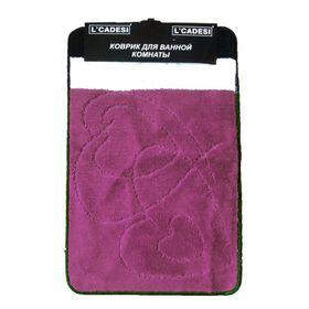 Набор ковриков для ванной 2 шт NIDA, цвет лиловый 80х50 см