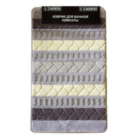 Набор ковриков для ванной 2 шт GEO BOX, цвет шоколадный 100х60 см