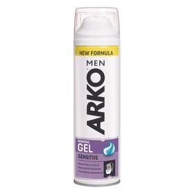 Гель для бритья Arko Men Sensitive, с алоэ вера и маслом лаванды, 200 мл