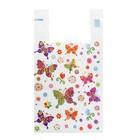 """Пакет """"Бабочки"""", полиэтиленовый майка, 28х50 см, 12 мкм"""