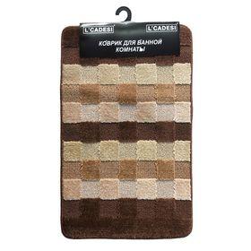 Набор ковриков для ванной 2 шт BLOK TO BLOK, цвет бежевый 80х50 см