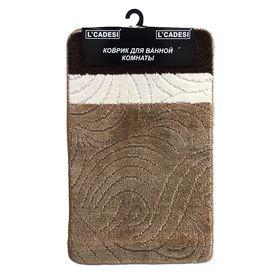 Набор ковриков для ванной 2 шт RUZGARGULU, цвет коричневый 100х60 см