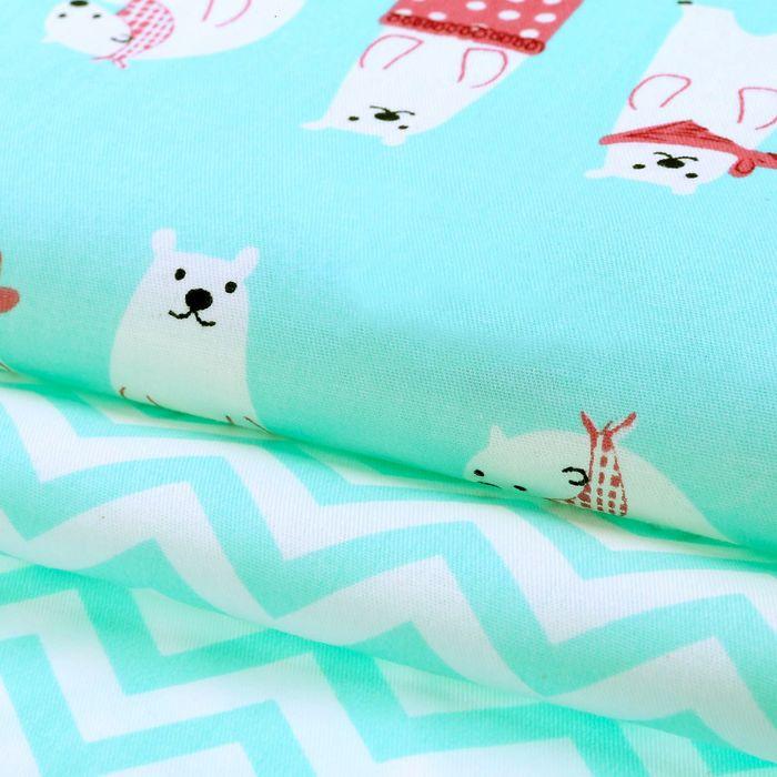 Набор ткани пэчворк «Приключения на Северном полюсе», 50 × 50 см