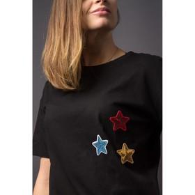 Термоаппликация «Звезда», с пайетками, 5,2 × 5,2 см, цвет золотой