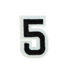 """Термоаппликация """"Цифра """"5"""", 5*3см, цвет чёрно-белый"""