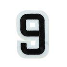 """Термоаппликация """"Цифра """"9"""", 5*3,4см, цвет чёрно-белый"""
