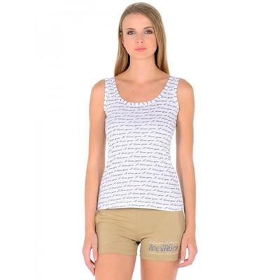 Комплект женский «Олива», размер 50, цвет белый + бежевый