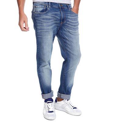 Джинсы мужские DAVID 10548-1, размер 44-46, рост 185-190 см, цвет светло-синий