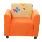 Кресло VELUR 38 (оранжевый), TOY 02 (бежевый), 59х55х47см, двп/дсп, поролон, меб.ткань
