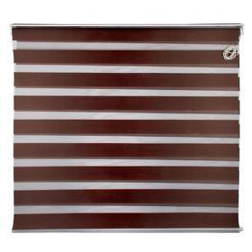 Штора-ролет «День и Ночь», размер 140х160 см, цвет шоколад