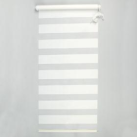 Штора-ролет «День и Ночь», размер 100х160 см, цвет белый