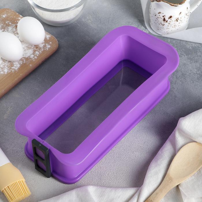 Форма для выпечки со стеклянным дном «Прямоугольник», 28,7×13,3 см, цвет МИКС - фото 308045627
