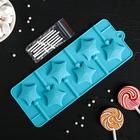 """Форма для леденцов и мороженого """"Звездочет"""", 6 ячеек, цвета МИКС"""