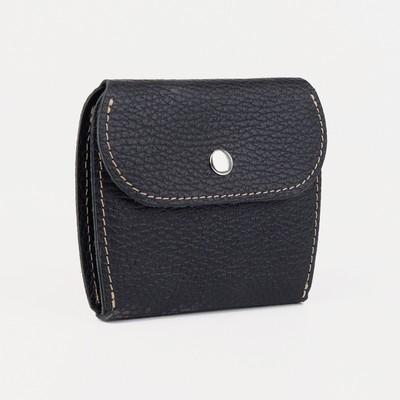 Портмоне-монетница, на кнопке, доллар, цвет чёрный