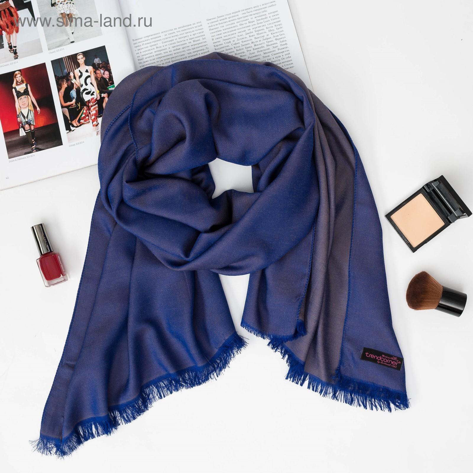 Шарф женский, размер 70х180 см, цвет темно-синий (2127013) - Купить ... 2097a8180e9