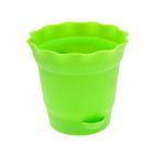 Горшок для цветов с поддоном 0,5 л Aquarelle d=11,7 см, цвет зелёный