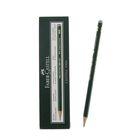 Карандаш художественный чёрнографитный Faber-Castel CASTELL® 9000 профессиональные 3H зелёный