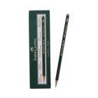 Карандаш художественный чёрнографитный Faber-Castel CASTELL® 9000 проф. 4H зелёный 119014