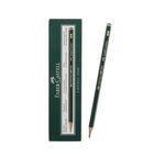 Карандаш художественный чёрнографитный Faber-Castel CASTELL® 9000 проф. H зелёный 119011