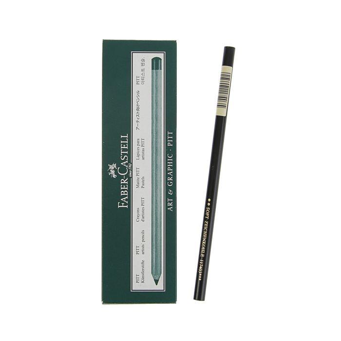 Уголь натуральный в карандаше Faber-Castell PITT® Monochrome Charcoal, Soft цена за 1 штуку