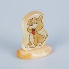 Сувенир  «Весёлый щенок», на подставке, селенит