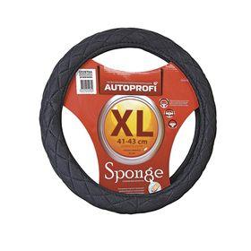 Оплётка руля AUTOPROFI SP-9020 BK (XL), алькантара, стёганая, наполнитель поролон 1 см, цвет чёрный