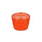 Кашпо, сизаль, круг, гиацинт ярко-оранжевая 7 х 10 см