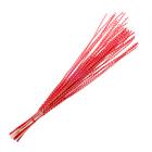 Шпон декоративный, спираль на прутике, красная 80 см, набор 40 шт