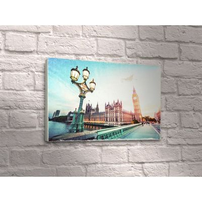 "Картина ""Архитектура Лондона"" уличный фонарь"